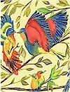 Bird Kiss, Cream, Michael Miller