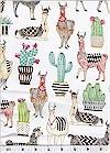 Lovely Llamas, White, Michael Miller