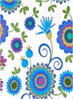 Dancing Flowers, Blue Michael Miller