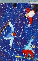 Snow Boarders, Blue, Michael Miller