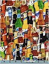 Packed Beer Bottles, Benartex Fabrics
