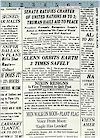 Newspaper Print Famous Headlines! Blank Textiles Good News! Please See Item Description