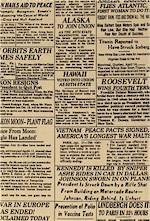Newspaper Print Famous Headlines, Tea, Blank Textiles