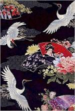 Kyoto Cranes & Fans Gold Accented Elizabeth Studios