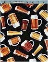 Beer Glasses Black Timeless Treasures