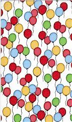 Kids Scattered Balloons Multi, Timeless Treasures