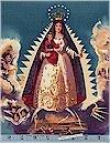 La Virgin de la Caridad Teal, Gold Accented, Alexander Henry