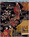 Imperial Coll. Geisha Garden Gold Accented Robert Kaufman Limited 3.60 Remains
