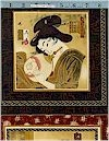 Oriental Traditions Geisha Panel,Gold Accented