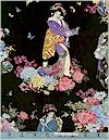 Kyoto, Flowered Geisha, Gold Accented, Elizabeth Studio