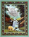 23rd Psalm, Wall Hanging Panel, 33 x 44,Springs ,  BACK IN STOCK!