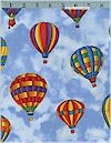 Hot Air Balloons Fabric Traditions Limited .5 Yard Remains