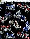 Motorcycles On Black Timeless Treasures Limited 2.75 Yards Remain