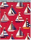Sail Boats on Red, Timeless Treasures