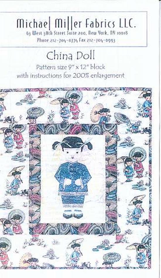 China Doll Quilt Pattern, Michael Miller, Quilt Patterns ... : doll quilt pattern instructions - Adamdwight.com