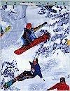 Snowboarders, Action!  Benartex Fabrics