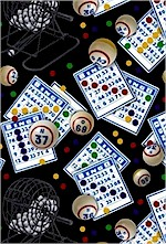 Tossed Bingo Cards, Black, Elizabeth Studios