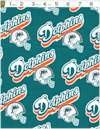 Nfl Football Team Miami Dolphins Logo Fabric Cotton 60 Inches Wide Cotton Limited Please See D