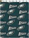 NFL Philadelphie Eagles, Licensed to Fabric Traditions Cotton
