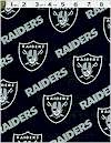 The Oakland Raiders Football Team Logo Fabricblack Nfl 60 Inches Wide Cotton