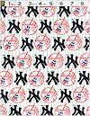New York Yankees Baseball Team Logo Fabric