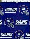 New York Giants Football Team Logo Fabric 60 Inches Wide Cotton