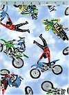 Motocross Bikes, Dirt Bikes, Timeless Treasures 100% COTTON