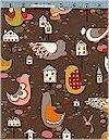 Orchard Wren Birds, Cocoa, Alexander Henry, Reg 9.95
