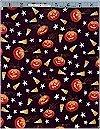 Pumpkins & Candy Corn Black Alexander Henry, reg 10.95