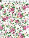Multi Pink Rose Floral, Luxlawn by Fabriquilt