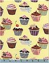 Cupcakes, Yellow, Robert Kaufman