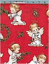 Christmas Cherubs, Red, Elizabeth Studio, Reg 10.50