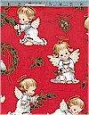 Christmas Cherubs, Red, Elizabeth Studio, Reg 10.50