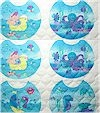 Sea Babies Collection, QUILTED Bib Panel, Cheri Strole, REG. 6.25