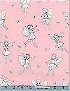 Petite Fairy Toile Rose Michael Miller