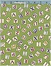 Flower Fairy Alphabet Letters, Green, Michael Miller