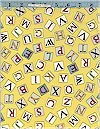 Flower Fairy Alphabet Letters, Yellow, Michael Miller