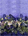 Night Fairies Border, Silver Accented, Michael Miller