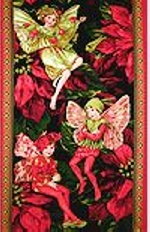Holiday Fairy Panel, CMB, Michael Miller