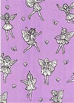 Lovely Flower Fairies toile, Lavender Michel Miller
