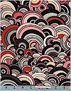 Rivoli Bubbles, Salmon/Black, Alexander Henry