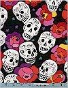 Estrella Skulls, Purple, Alexander Henry