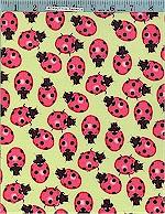 Little Ladybugs Tea Green, Alexander Henry