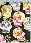 Calaveras, Skulls, Black, Glittered, Alexander Henry, BACK IN STOCK