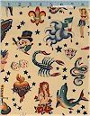 Tattoos On Natural, Retro, Alexander Henry, BACK IN STOCK!