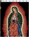 Virgin Of Guadalupe, Gold Accented, Black., Alexander Henry, BACK IN STOCK