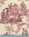 Midnight Pastoral Folklorico, Natural, (Red) Toile, Alexander Henry, BACK IN STOCK