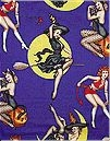 Bewitched Pinups, Purple, Alexander Henry,