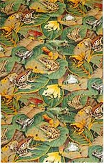 Scattered Frogs on Leaves, Daisy Kingdom