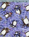 Penguins, Silver Accenting, Spx Fabrics